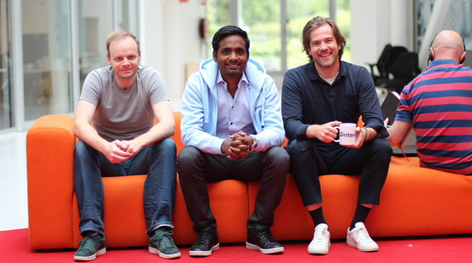 From the left side; Frode Annevik, CTO, Daro Navaratnam, CEO and Flemming Gangsø, Sale. Sales Manager Magnus Gleditch was not present when the picture was taken.